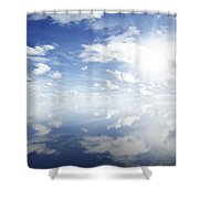 Clouds Reflected Shower Curtain