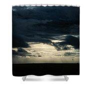 Clouds Sunlight And Seagulls Shower Curtain by Hakon Soreide