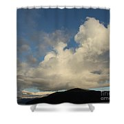Clouds With Arms Shower Curtain