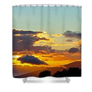 Clouds With Colors Shower Curtain