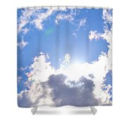 Clouds With Sunshine Shower Curtain