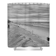 Cloudy Beach Morning Shower Curtain