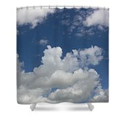 Cloudy Blue Sky Shower Curtain