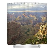 Cloudy Bright Angel Trail  Shower Curtain