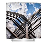 Cloudy Building Shower Curtain
