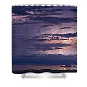 Cloudy Causeway Shower Curtain