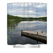 Cloudy Colored Water Shower Curtain