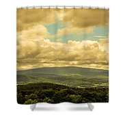 Cloudy Day In New Hampshire Shower Curtain
