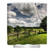 Cloudy Day In The Country Shower Curtain