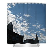 Cloudy In Cleveland Shower Curtain