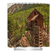 Cloudy Over Crystal Shower Curtain by Adam Jewell