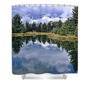 Cloudy Reflection Shower Curtain