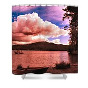 Cloudy Skies Over Scotts Flat Lake Shower Curtain
