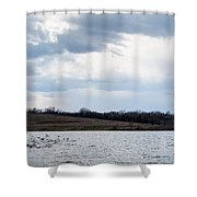 Cloudy Spring Day Shower Curtain