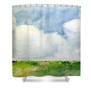 Cloudy Summerday Shower Curtain