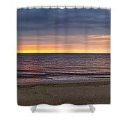 Cloudy Sunrise On Nauset Beach Shower Curtain