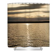 Cloudy Sunrise Shower Curtain