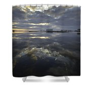 Cloudy Terrys Cove Shower Curtain