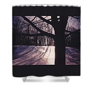 Clove Lakes Park In Winter Shower Curtain