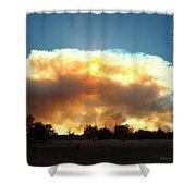 Clover Fire At 5 25 Pm Shower Curtain