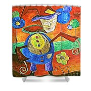 Clown 530-11-13 Marucii Shower Curtain