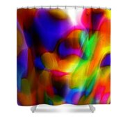 Clown Chakra Nebula Shower Curtain