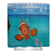 Clown Fish And Friends Shower Curtain