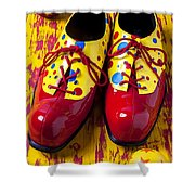 Clown Shoes And Balls Shower Curtain