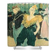 Clowness Cha-u-kao At Moulin Rouge Shower Curtain