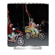 Clowns On Bikes Shower Curtain