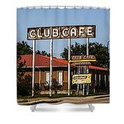 Club Cafe Shower Curtain