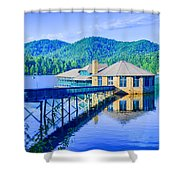 Clubhouse On Lake Tahoma Shower Curtain