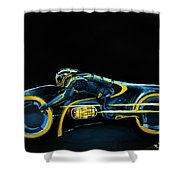 Clu's Lightcycle Shower Curtain