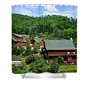 Cluster Cottages Shower Curtain