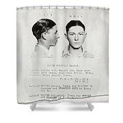 Clyde Champion Barrow Mugshot - Dallas Texas  Shower Curtain