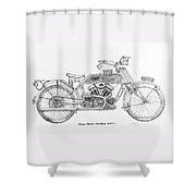 Clyno-harley-davidson Shower Curtain