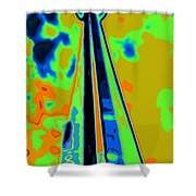 Cn Tower Abstract Shower Curtain