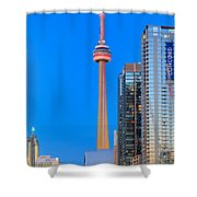 Cn Tower By Night Shower Curtain