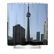 C N Tower Toronto Shower Curtain