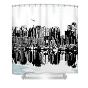 Vancouver Canada Coal Harbour Centre Panel Shower Curtain