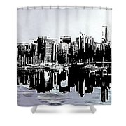 Vancouver  Canada Coal Harbour Triptych Left Panel Shower Curtain