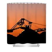 Coal Loader Shower Curtain