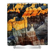 Coal Mine Canyon Aglow Shower Curtain