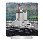 Coal Mine Electrical Energy Power Plant In Nature Shower Curtain