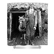 Coal Miner & Mule 1940 Shower Curtain
