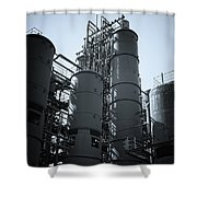 Coal Washing Plant Silos Shower Curtain