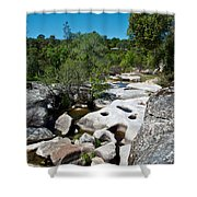 Coarsegold Creek Bed In Park Sierra-ca Shower Curtain