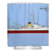 Coast Guard Cutter Taney Shower Curtain