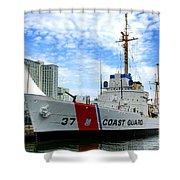 Coast Guard Cutter Taney Shower Curtain