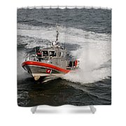 Coast Guard In Action Shower Curtain